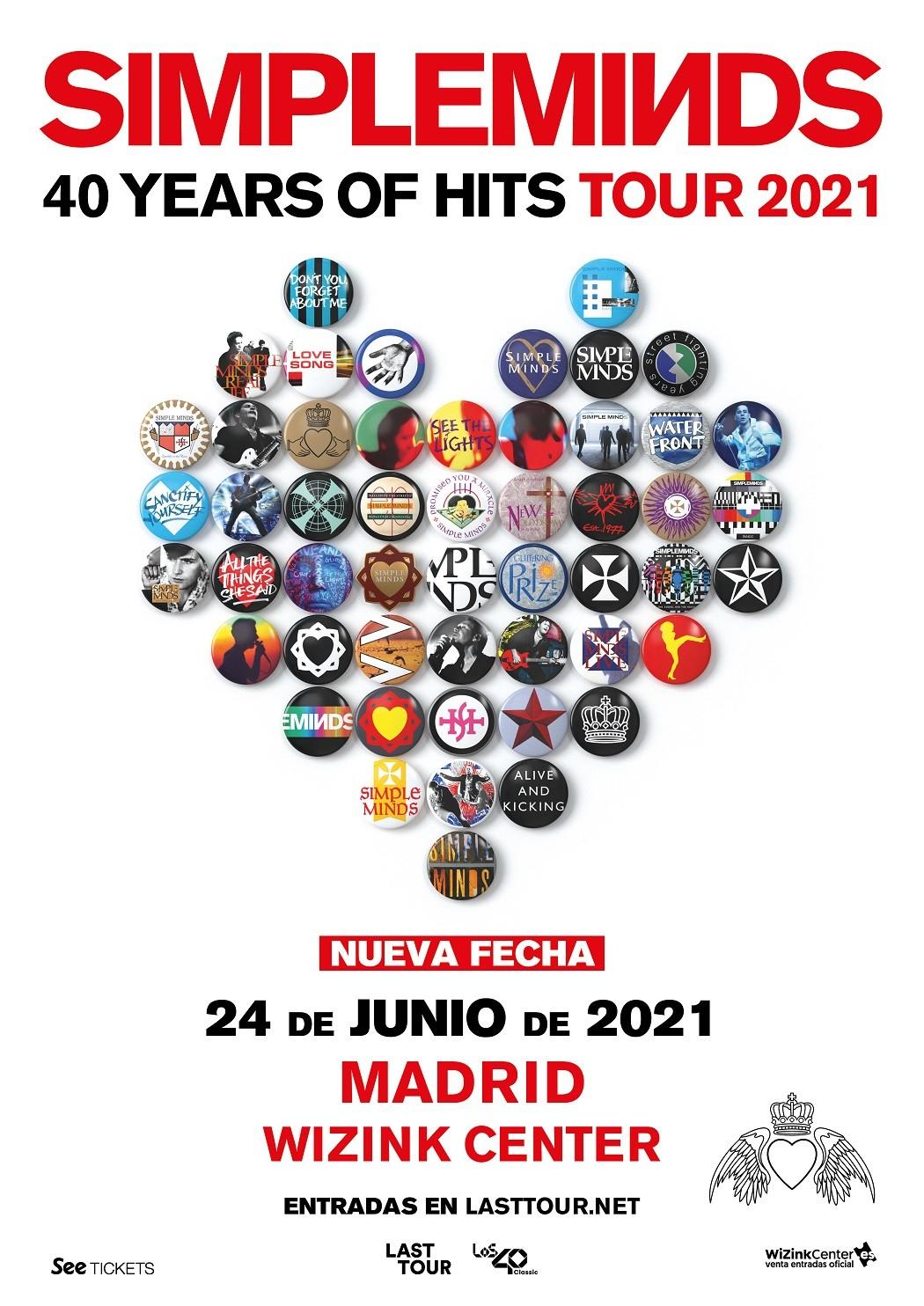 Simple Minds aplaza su concierto en Madrid a 2021