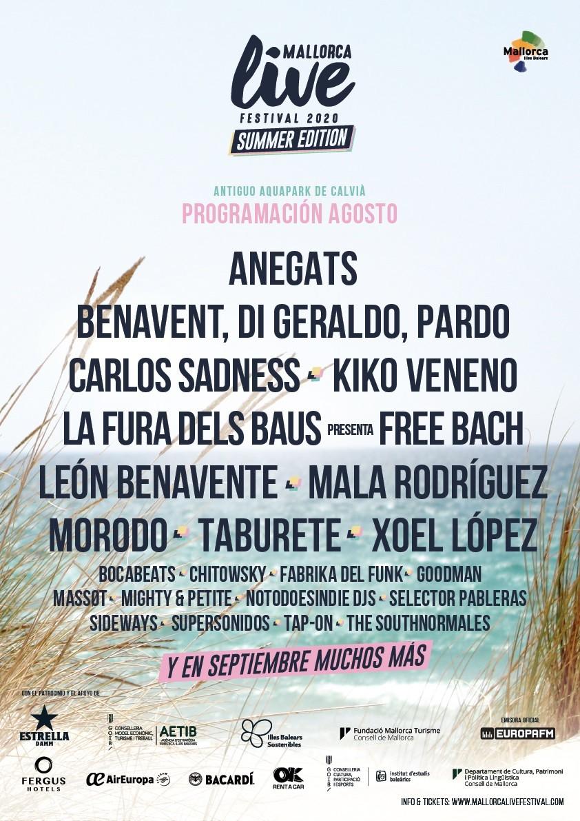 Mallorca Live Festival anuncia su programación tras su transformación en ciclo de conciertos