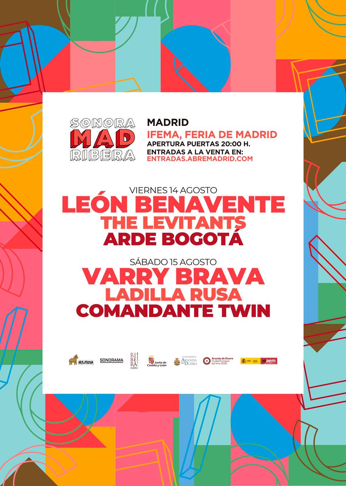 SonoraMad Ribera llega a Madrid los días 14 y 15 de agosto
