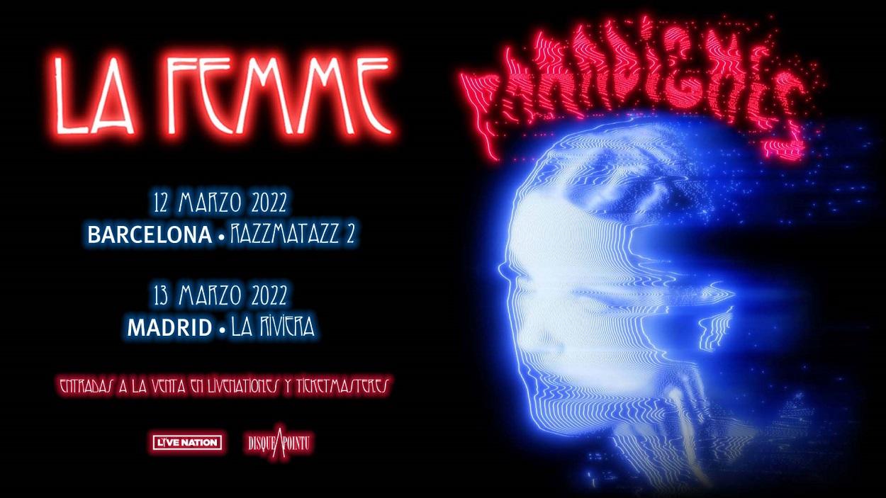 La Femme anuncian conciertos en Madrid y Barcelona para marzo de 2022