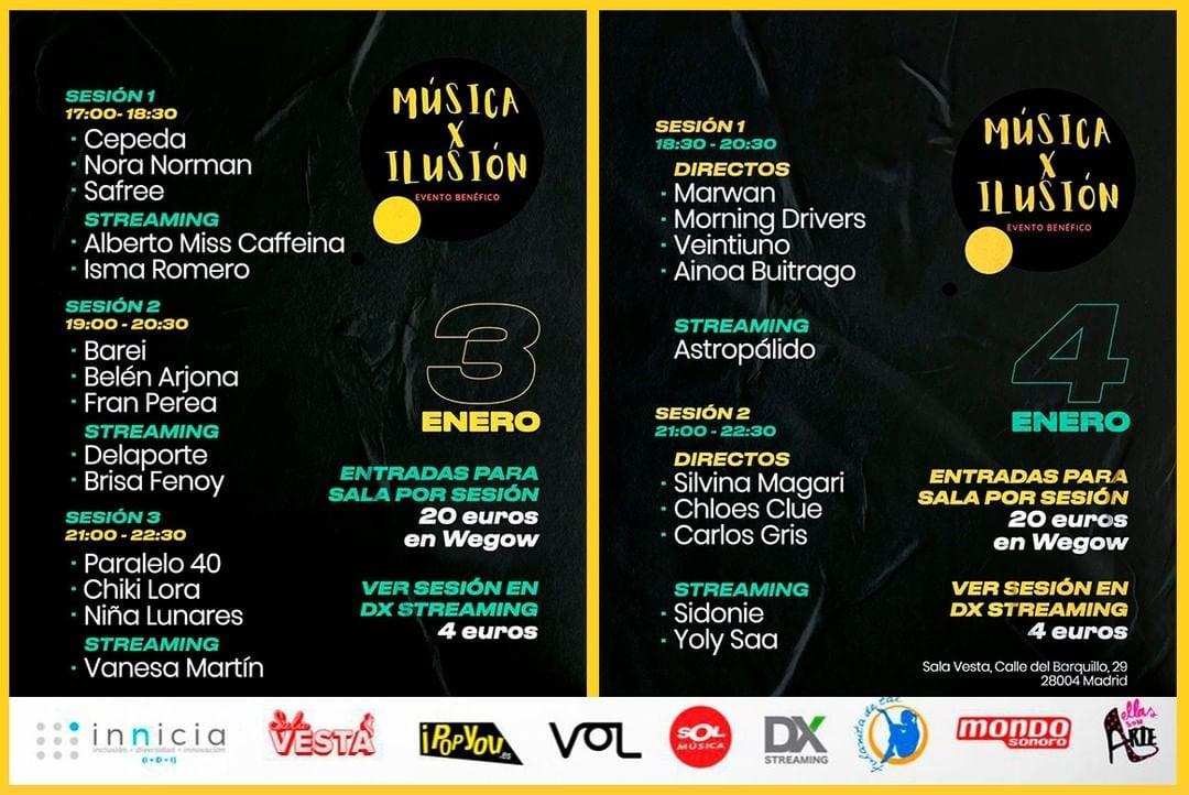 Música x Ilusión, evento benéfico para ayudar a familias sin recursos