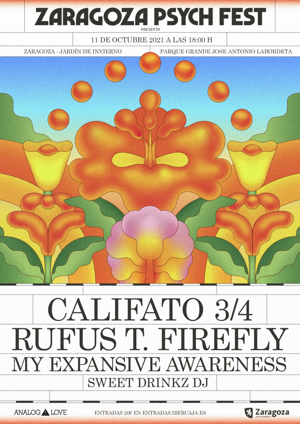 Califato 3/4, Rufus T. Firefly, My Expansive Awareness y Sweet Drinkz dj encabezan el Zaragoza Psych Fest
